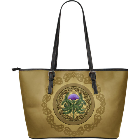 Luxurious Thistle Scottish - Leather Tote Bag | Special Custom Design