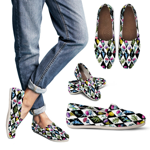 Thistle Pattern 05 - Women's Casual Shoes | HOT SALE