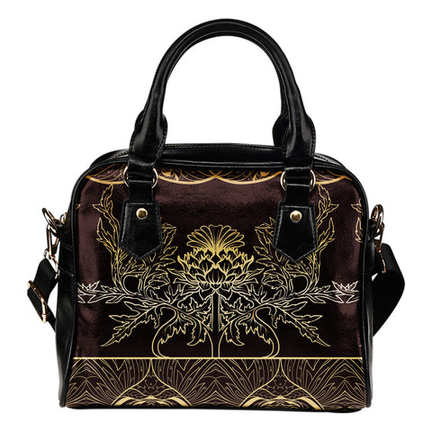 Thistle Pattern - Shoulder Handbag | Special Custom Design