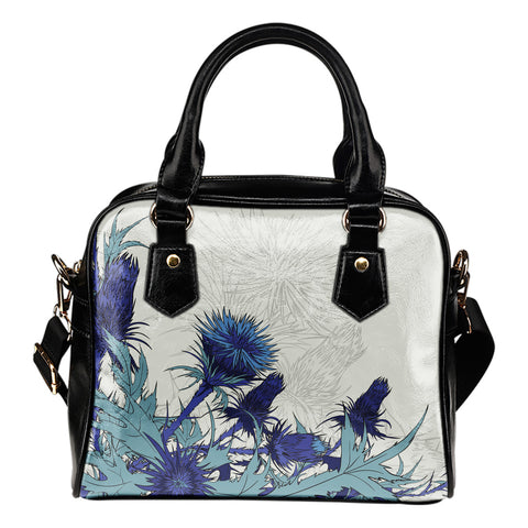 Image of Blue Thistle - Shoulder Handbag | Special Custom Design