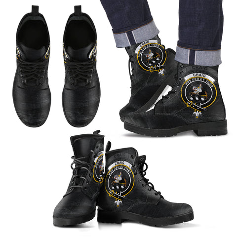 Craig Crest Leather Boots (Women's/Men's) | Over 300 Clans