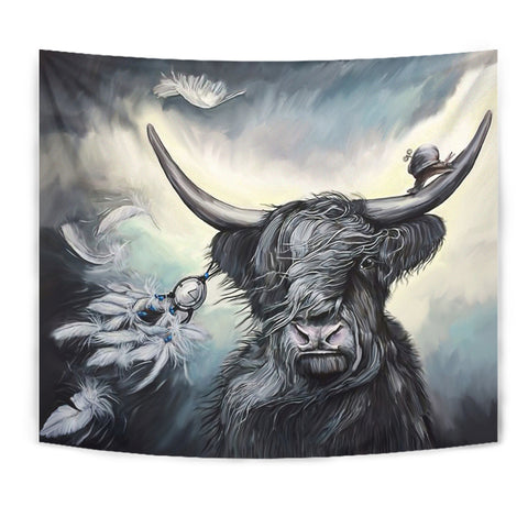 Scottish Highland Cow Tapestry | Home Decor