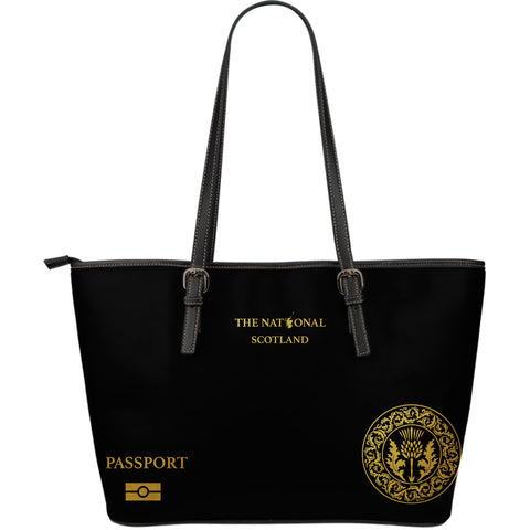 Scotland Thistle Passport - Leather Tote Bag | HOT Sale