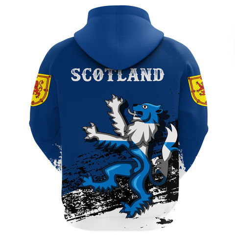 Rampant Lion of The Royal Arms of Scotland Zip Hoodie