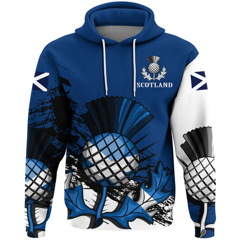 Scotland Hoodie, Thistle Flag All Over Print Hoodie