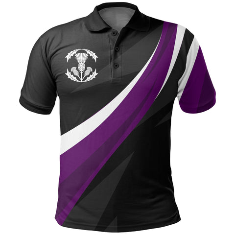 The Scottish Thistle - Perfect National Flower Polo Shirt | 1stscotland.com