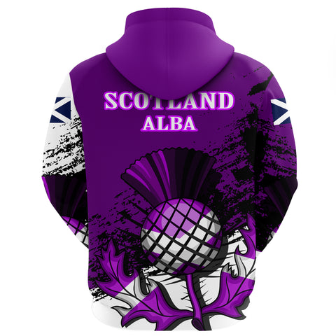 Image of Scotland Zipper Hoodie Violet Version A7