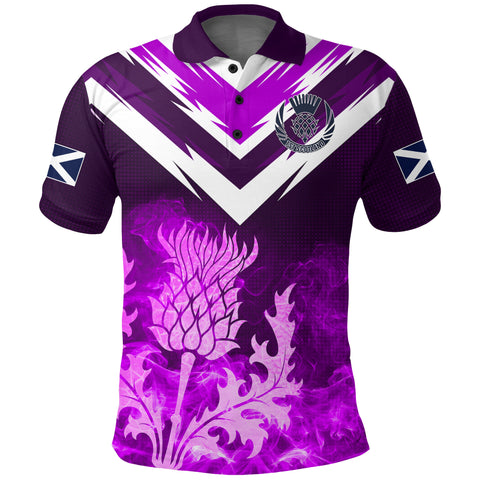 1stScotland Polo Shirt Scottish Thistle - New Release A7