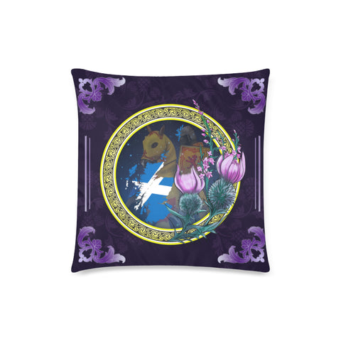Image of Scotland Pillow Cases, Combatant Scotland Maps Thistle