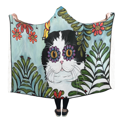 Hiding Scottish Fold Cat - Hooded Blanket | Hot Sale