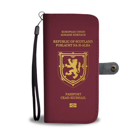 Image of Scotland Lion Passport - Wallet Phone Case | Special Custom Design
