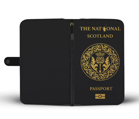 Image of Scotland Thistle Passport - Wallet Phone Case | Special Custom