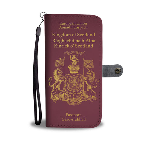 Scotland Passport - Wallet Phone Case | Special Custom Design