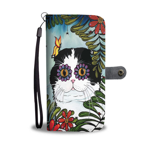 Hiding Scottish Fold Cat - Wallet Phone Case | HOT Sale