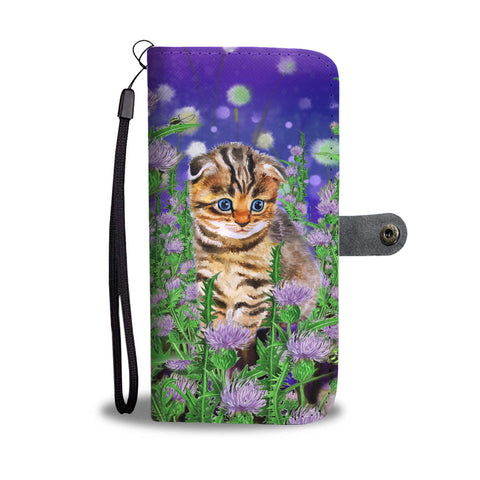 Scottish Fold Cat And Thistle - Wallet Phone Case | HOT Sale