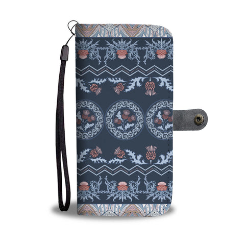Image of Scottish Thistle Pattern - Wallet Phone Case | | Special Custom Design