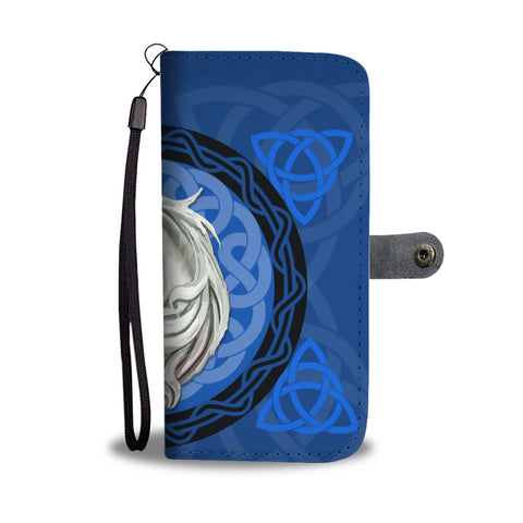 Image of Unicorn Celtic Blue - Scotland Wallet Phone Case | Special Custom Design