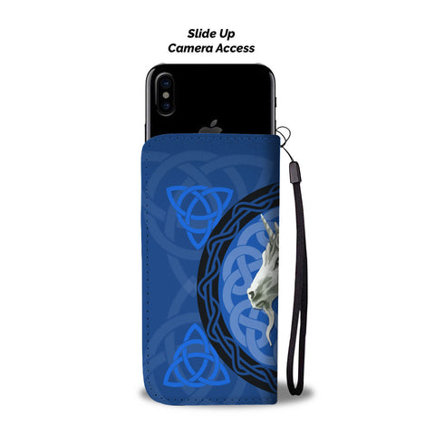 Unicorn Celtic Blue - Scotland Wallet Phone Case | Special Custom Design