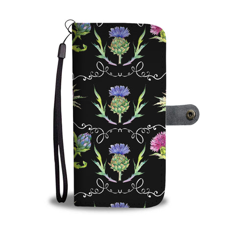 Image of Scottish Thistle Pattern 07 Wallet Phone Case