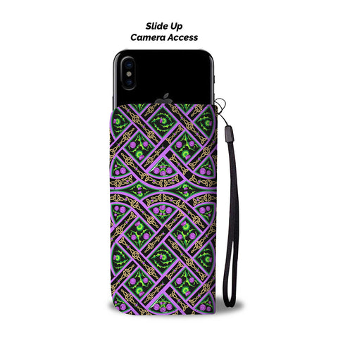 Image of Scottish Thistle Pattern 16 Wallet Phone Case