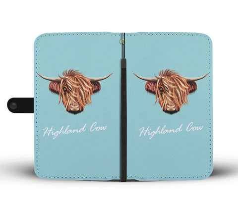 Highland Cow Head - Wallet Phone Case | Special Custom Design
