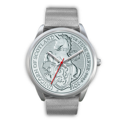 The Unicorn Of Scotland Coin Silver Watch | Special Custom Design