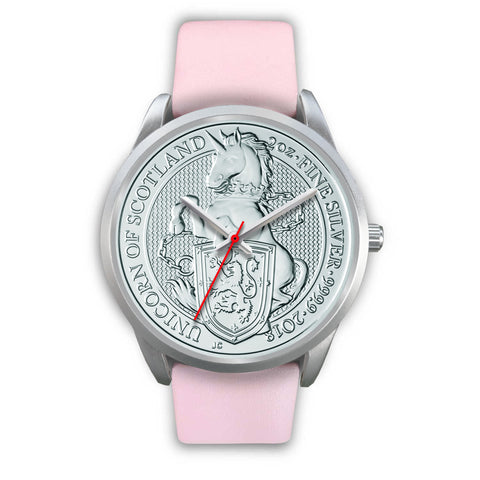 Image of The Unicorn Of Scotland Coin Silver Watch | Special Custom Design