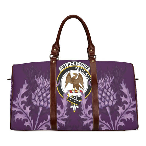 Abercrombie Crest Scottish Thistle Scotland Travel Bag | Over 300 Clans