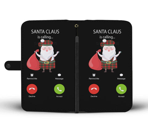 Image of Santa Claus Is Calling - Scotland Wallet Phone Case | HOT Sale