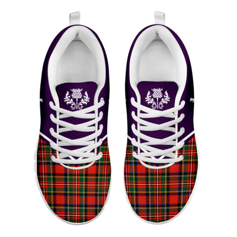 Custom - Scotland Rising Sneakers (Purple)