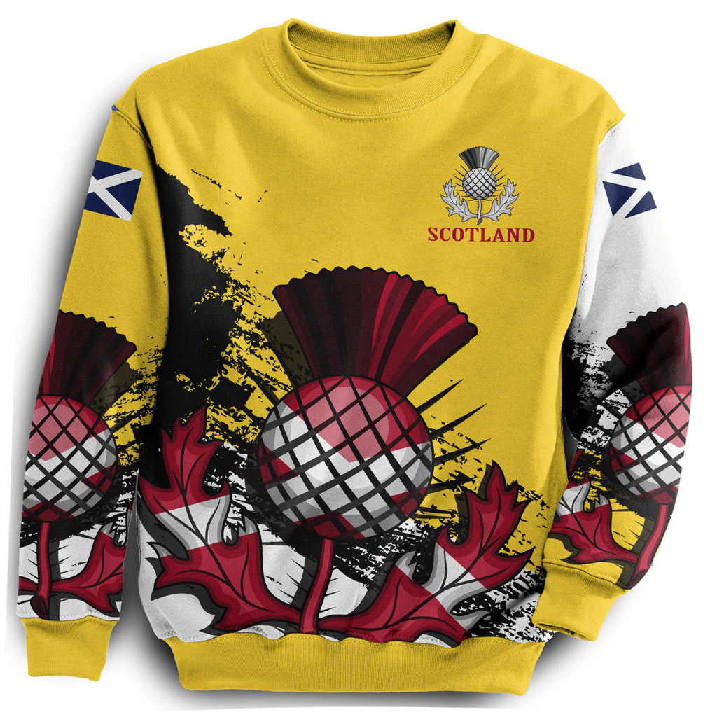 48eab3a65 Scottish Thistle Royal Edition All Over Print Sweatshirt | Women ...