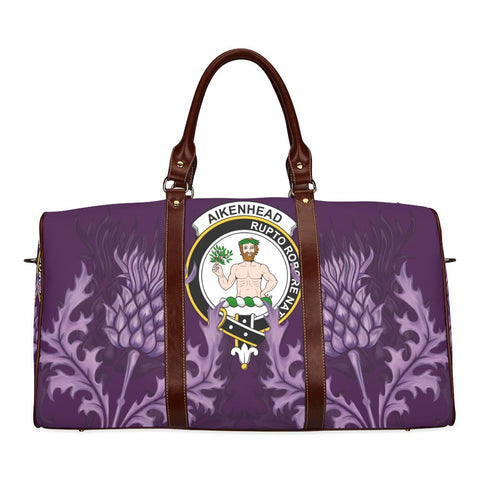 Image of Aikenhead Crest Scottish Thistle Scotland Travel Bag | Over 300 Clans