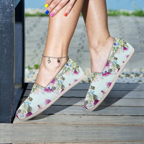 Scotland Thistle Pattern 01 - Women's Casual Shoes | HOT SALE