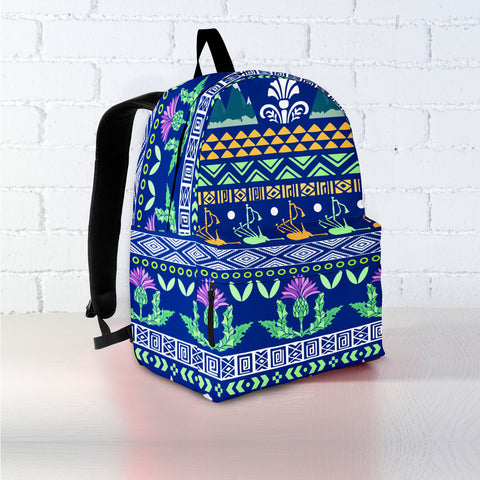 Blue Thistle Pattern - Backpack | Special Custom Design