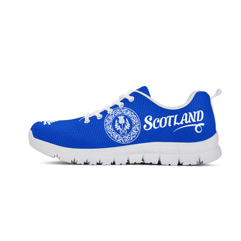 Thistle Flower - Scotland Blue Sneakers | Love Scotland