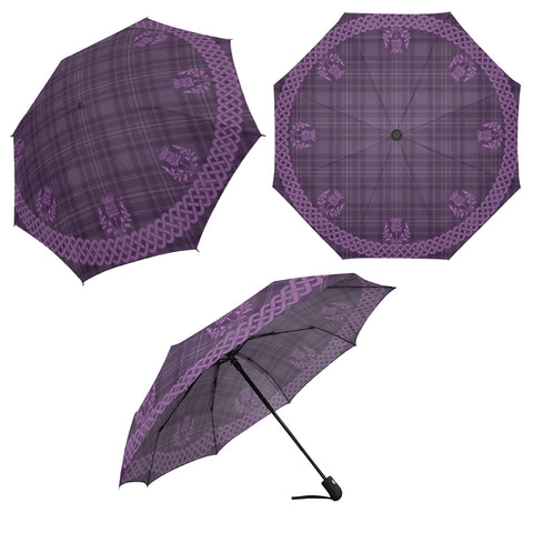 Purple Thistles Umbrella