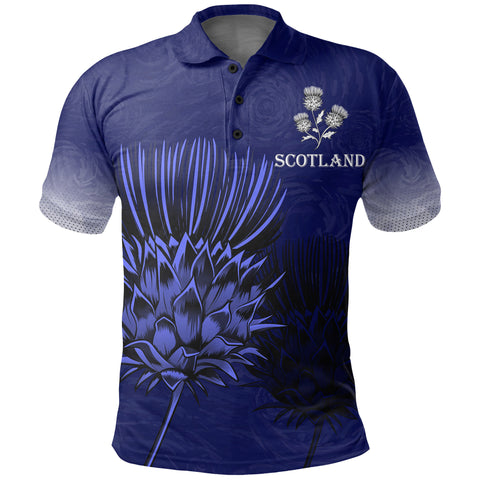 Scottish Thistle - Flower of Polo Shirt | 1stscotland.com