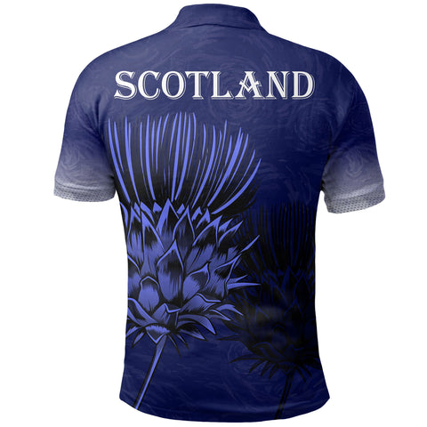 Scottish Polo Shirt - Thistle Flower A7