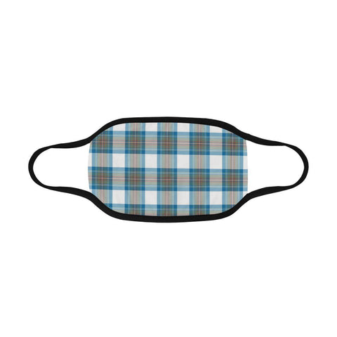 Stewart Muted Blue Tartan Mouth Mask With Filter | 1stScotland