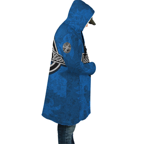 Celtic Cross Lion - Scottish Blue Hooded Cloak | Love Scotland