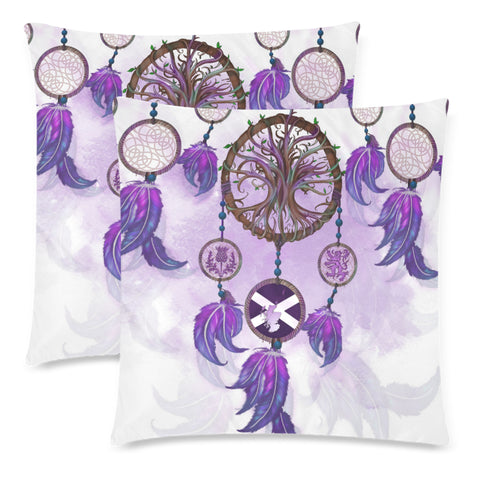 Image of Scotland Pillow Case - Dream Catcher Celtic Tree Of Life White | Love The World