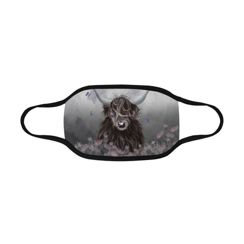 Scotland Mouth Mask Highland Cow Thistle | Love Scotland