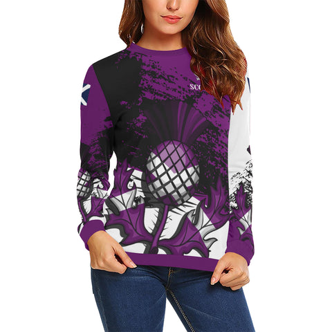 Image of Scottish Thistle Purple Edition All Over Print Sweatshirt