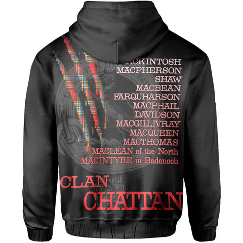 Clan Chattan Touch Not The Cat Pullover Hoodie | Love Scotland