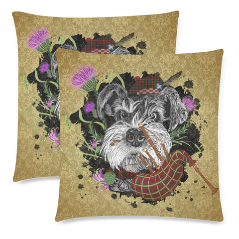 Scotland Pillow Cases - Scottish Terrier And Thistle Vintage | Love The World