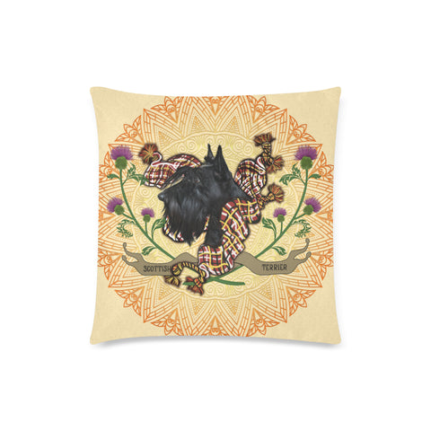 Image of Scotland Pillow Case - Scottish Terrier Thistle  A24