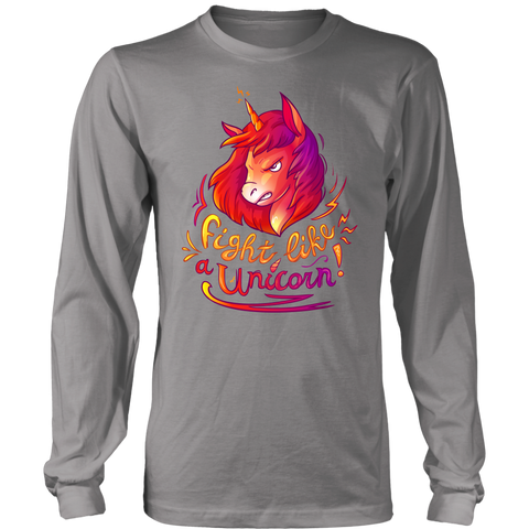 Image of Fight Like a Unicorn - Long Sleeve T-shirt | HOT Sale