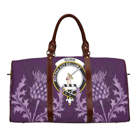 Gunn Crest Scottish Thistle Scotland Travel Bag | Over 300 Clans