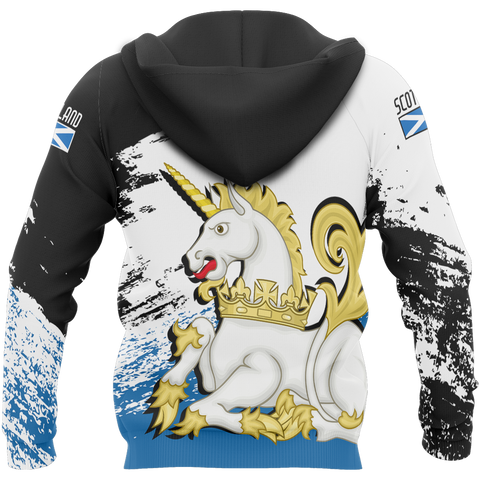 Image of Scotland Royal Unicorn Allover Zip Hoodie | Clothing | Love Scotland