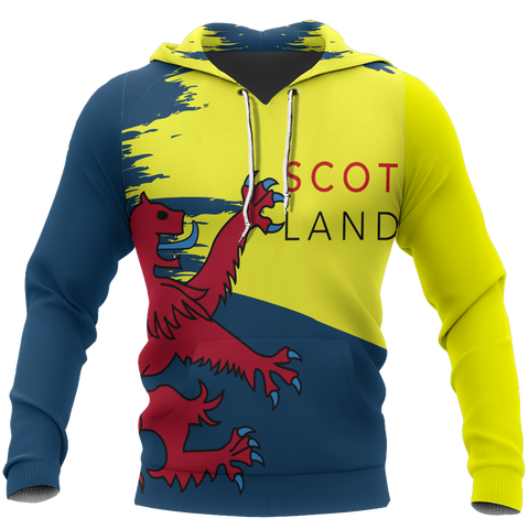 Scotland Pullover Hoodie Red Lion Painting